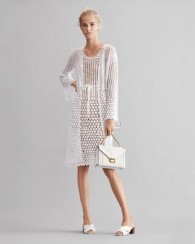 Crocheted Cardigan, Crocheted Dress, Whitney Shoulder Bag, Abbott Mule